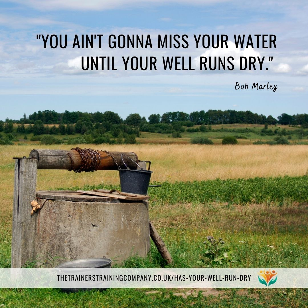 """You ain't gonna miss your water until your well runs dry."" Bob Marley quote"