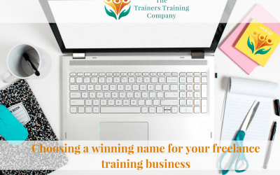 Choosing a winning name for your freelance training business