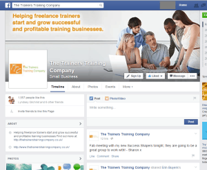 The Trainer Training Company Facebook page