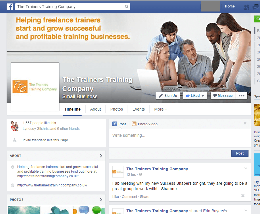 Using Facebook to build your training business