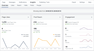 Facebook insights panel