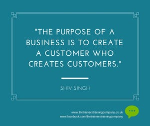 Referrals quote about creating customers who create customers