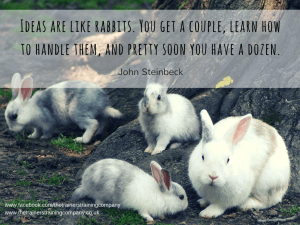 Ideas are like rabbits quote