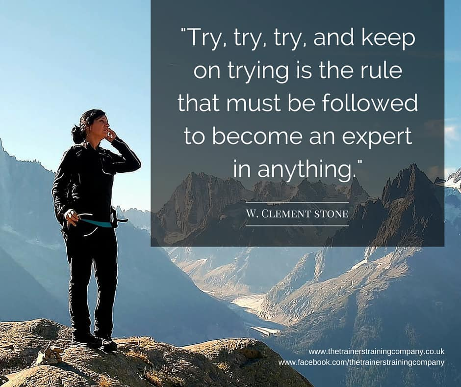 Try, try, try and keep on trying is the rule that must be followed to become an expert in anything.