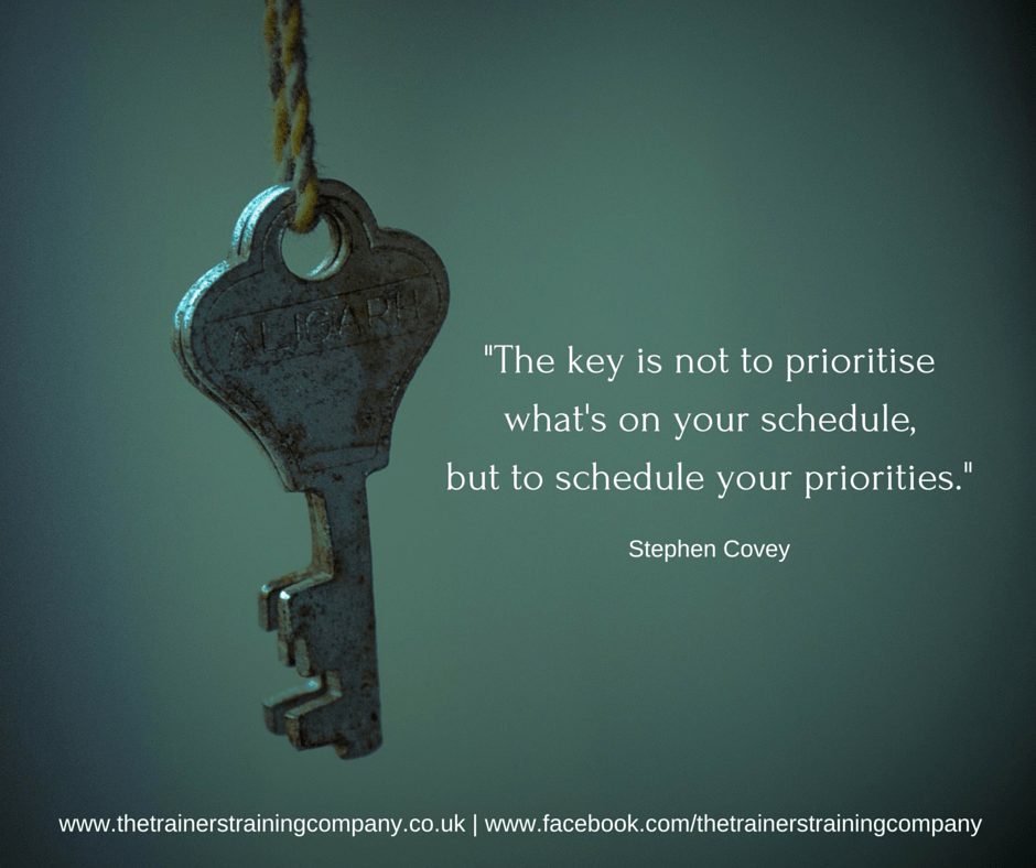 Quote about scheduling your priorities to make time for what matters