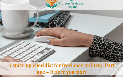 A start-up checklist for freelance trainers: Part one – Before you start
