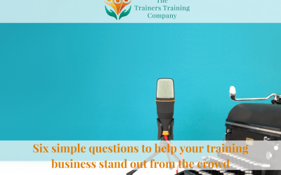 Six simple questions to help your training business stand out from the crowd