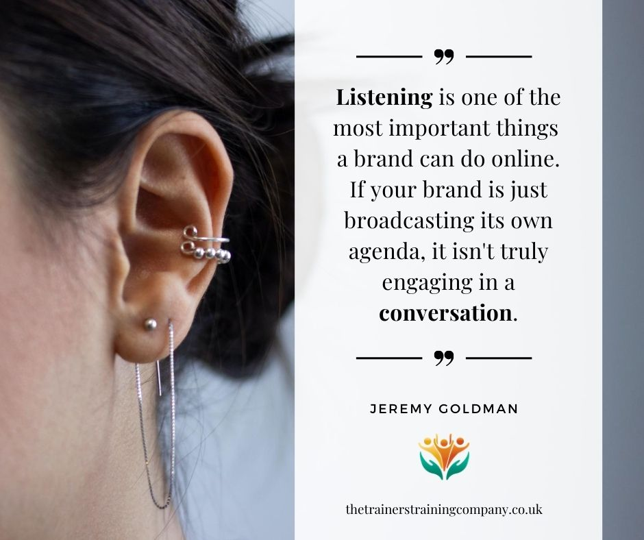 Quote about listening on social media