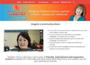 Trainer Talk website screen shot