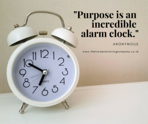 Purpose is an incredible alarm clock. Quote by anon.