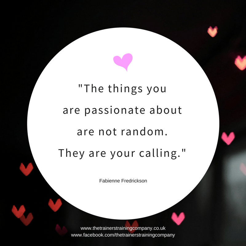 """The things you are passionate about are not random. They are your calling."" Quote by Fabienne Fredrickson"