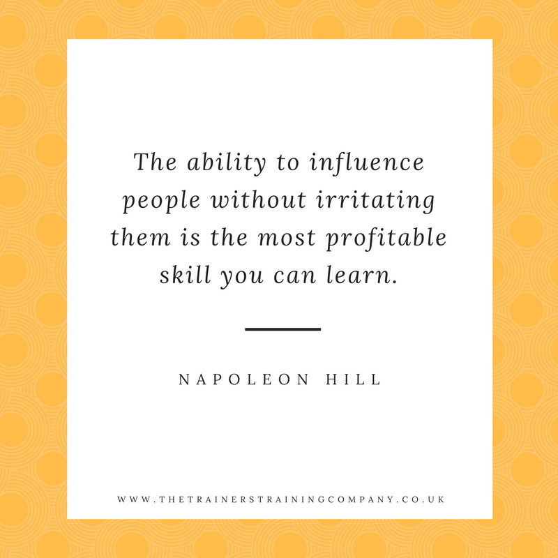 """The ability to influence people without irritating them is the most profitable skill you can learn."" Quote by Napoleon Hill"