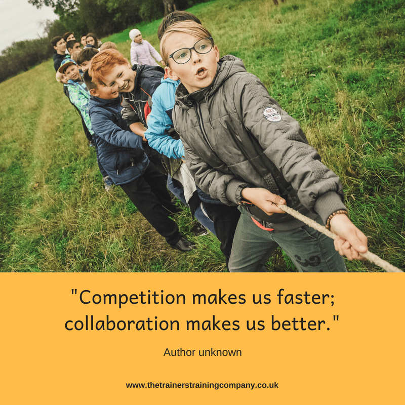 """Competition makes us faster; collaboration makes us better"". Quote by unknown author"