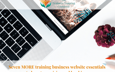 Seven MORE training business website essentials to boost enquiries and bookings
