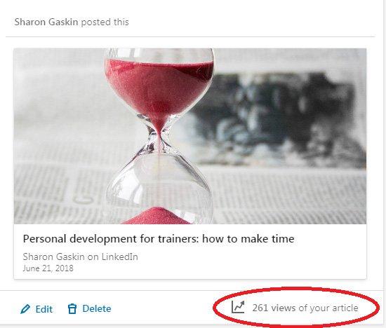 Article views LinkedIn