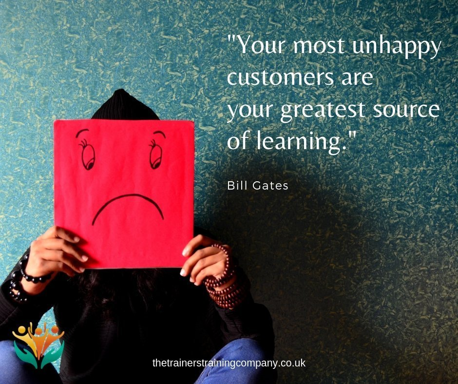 """Your most unhappy customers are your greatest source of learning."" Quote by Bill Gates"