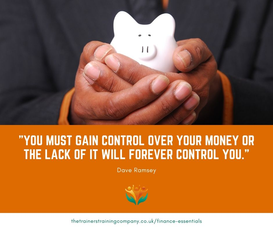"""You must gain control over your money or the lack of it will forever control you."" Quote by Dave Ramsey"