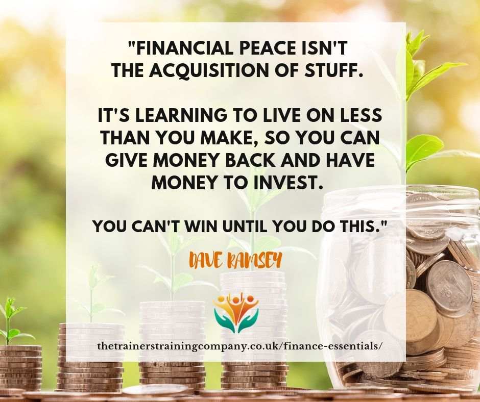 Quote from Dave Ramsey about finance essentials
