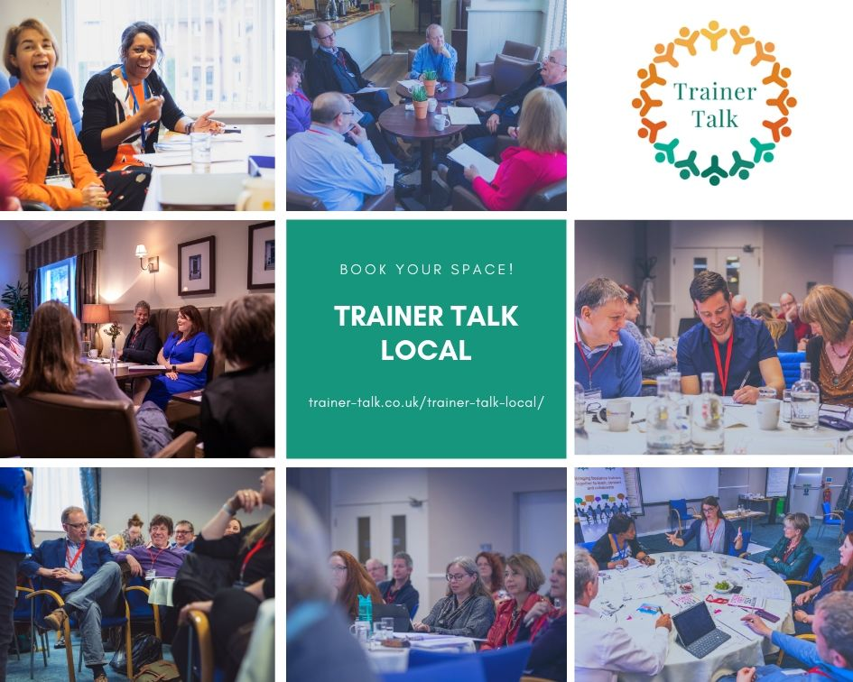 Collage of images from Trainer Talk events