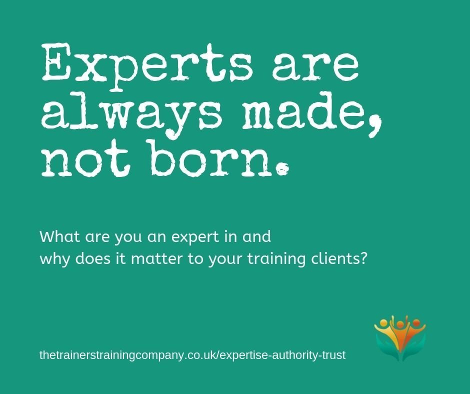 Experts are always made, not born. Quote by anon.