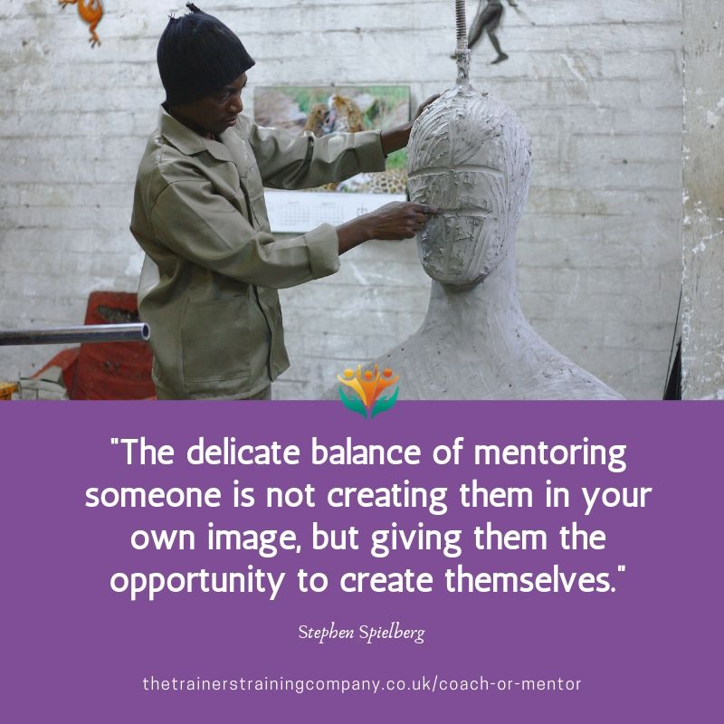 Quote from Stephen Spielberg about the balance of mentoring