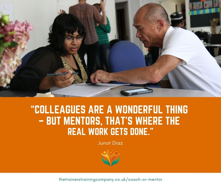 """Colleagues are a wonderful thing – but mentors, that's where the real work gets done."" Quote by Junot Diaz"