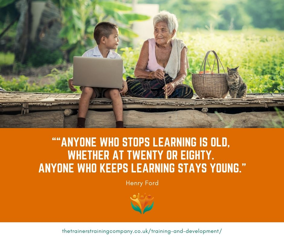 """Anyone who stops learning is old, whether at twenty or eighty. Anyone who keeps learning stays young."" Quote by Henry Ford"