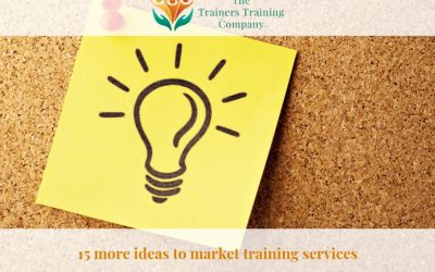 15 more ideas to market training services