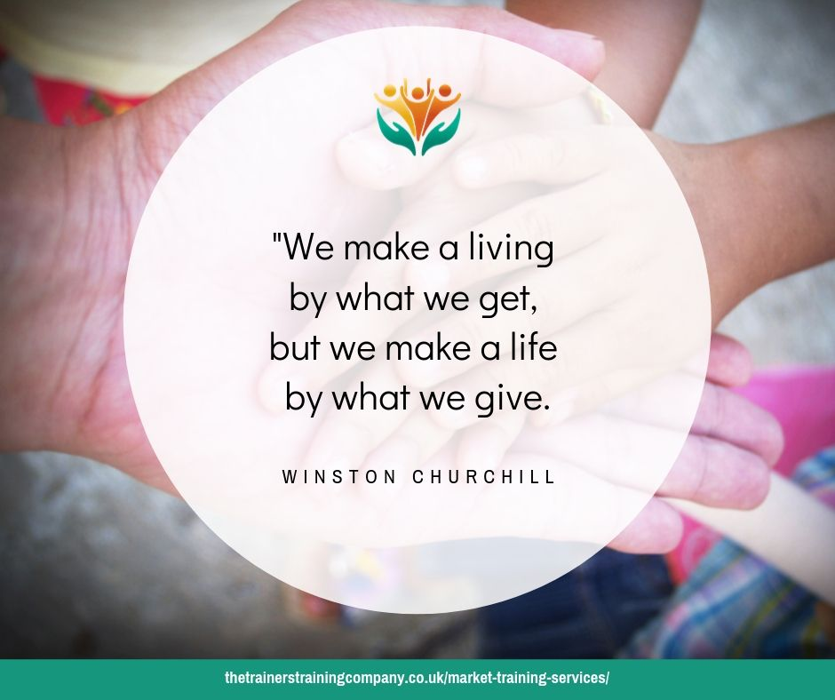 We make a living by what we get, but we make a life by what we give. Quote by Winston Churchill