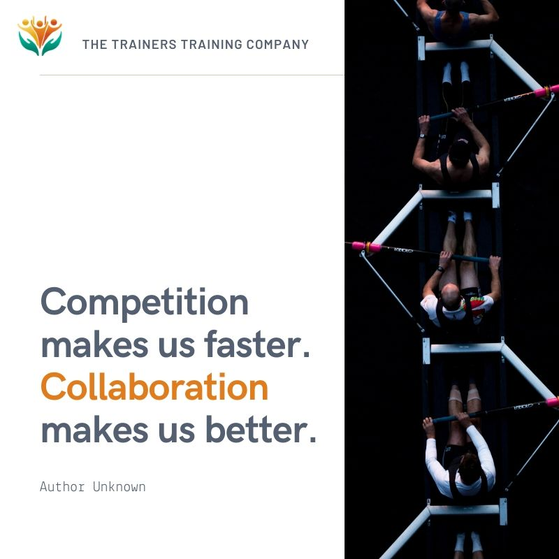 """""""Competition makes us faster. Collaboration makes us better."""" Quote by unknown author"""