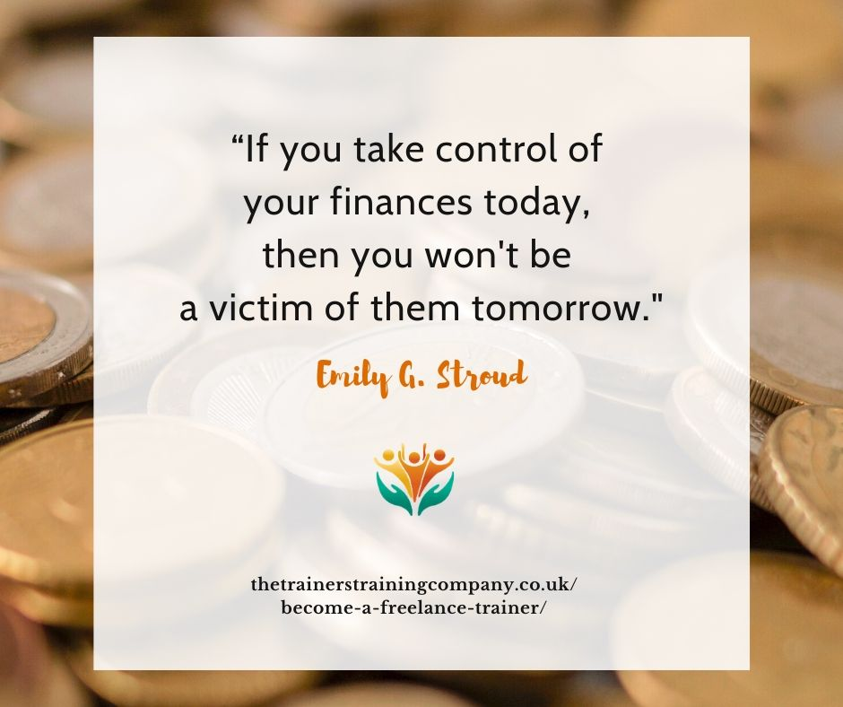 """""""If you take control of your finances today, then you won't be a victim of them tomorrow."""" Quote by Emily G Stroud"""