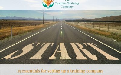 15 essentials for setting up a training company
