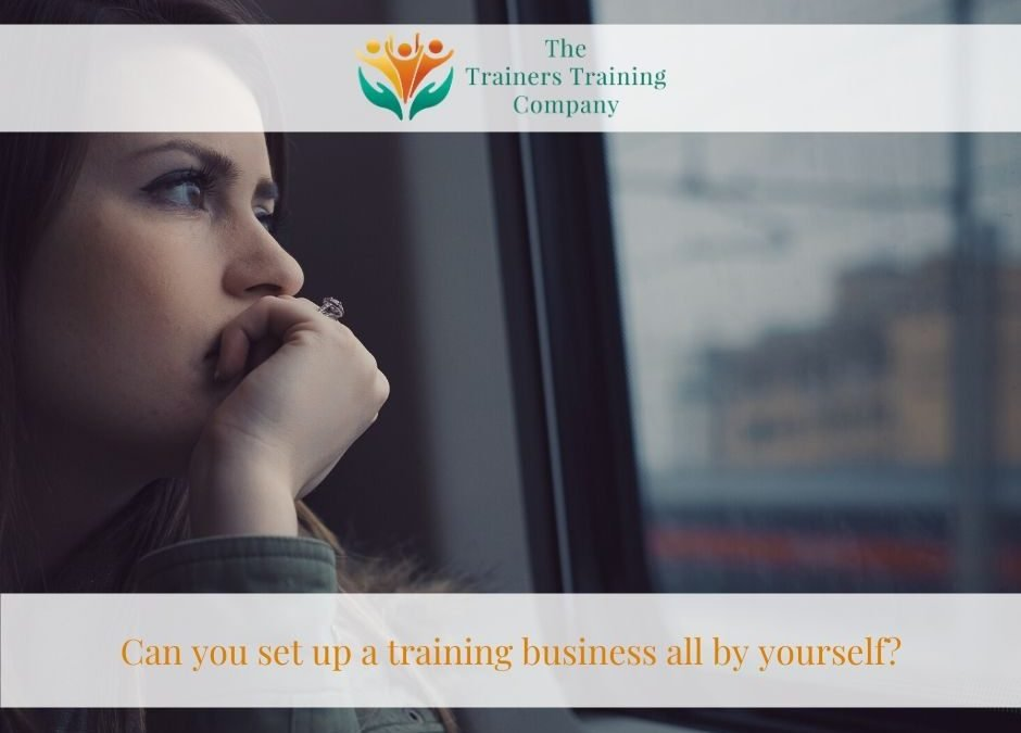 Can you set up a training business all by yourself?
